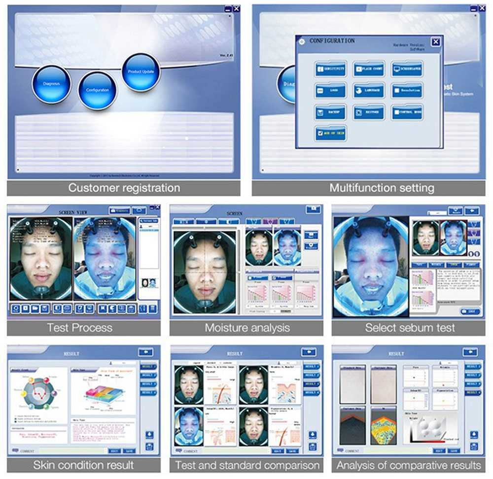 SA-428-1 Bio UV Facial Skin Scanner Analyzer Beauty Machine